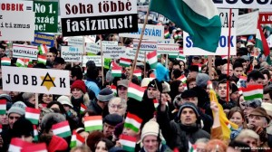 Hungarians Rallly Against Anti-Semitism