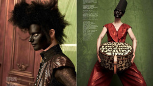 Vogue Magazine - Black Face Painted Models in 2013